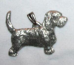 PBGV Petit Basset Griffon Vendéen Dog Harris Fine Pewter Pendant USA Made