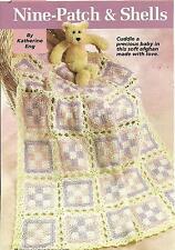 *Nine-Patch & Shells Baby Afghan crochet PATTERN INSTRUCTIONS