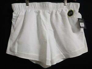 Athletic Works Women's Size XXL 20 White Running Shorts With. Bike Liner #
