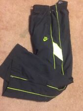 Nike Basketball Pants Mens Size Sm Gray Fully Lined Track Running Zip Ankle Euc