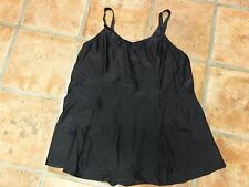 Esther Williams One Piece Women's Swimsuit With Built-in-Bra Black New Size 26