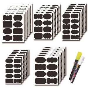 48-120pcs/Set Erasable Blackboard Stickers Bottles Organizer Chalkboard Label F