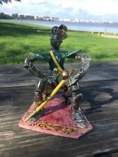 Vintage Italian Knight Figurine Sculpture signed Seated on Bench Italy