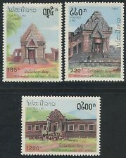 LAOS N°1055/1057** Restauration de Wat Phou, 1992 set MNH