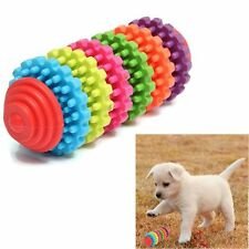 Pet Dog Puppy Colorful Rubber Dental Teething Healthy Teeth Gums Chew Toy Tool