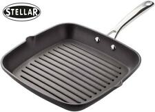 Stellar Cast 26cm Non Stick Square Frying Griddle/Grill Oven Pan SX35