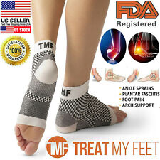 Plantar Fasciitis Foot Sleeve Arch Support Therapy Wraps Compression Socks Large