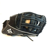 "Wilson A12AF15 13"" Black Leather Baseball Softball Glove ONYX 4 Righty 1 Lefty"