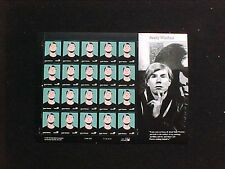 U.S: #3652 37¢ ANDY WARHOL MINT SHEET/20 NH OG