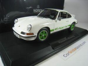 PORSCHE 911 CARRERA RS TOURING 1973 1/18 NOREV (WHITE /GREEN)