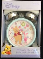 Disney winnie the pooh twin bell alarm clock with piglet brand new in box
