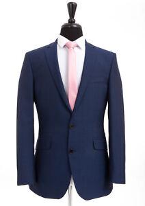 Pierre Cardin Suit ink Blue Sharkskin Tailored Fit