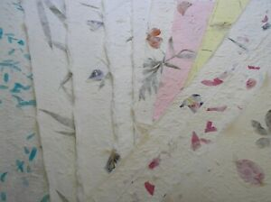 20< A4 sheets MIXED FLOWER PETAL mulberry papers THICK TEXTURED from CRAFTY COW