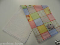 1 Only Towelling Back GREAT GIFT IDEA!! Blue Pink Fade Chevron Burp Cloth