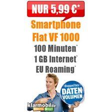 Handyvertrag mit Internet Flat 1GB Freiminuten Vodafone D2 Netz Sim Only Vertrag