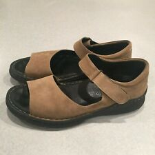 Wolky Women's Beige Leather Closed Back Sandals Size 42 / 10.5 - 11 M