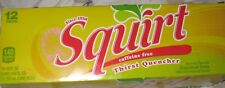 Squirt Grapefruit Soda 12 Pack of Cans Thirst Quencher Caffeine Free Since 1938