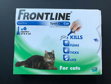 FRONTLINE Spot On for Cats 6 Pipettes Treatment Kills Fleas Ticks Lice New in UK