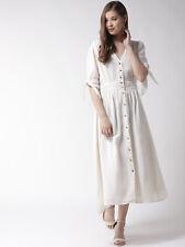 Voller Länge Casual Hostess Baumwolle Button Front Kleid SZ M/L EUC FDS