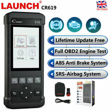 Airbag ABS Engine Car Diagnostic Tool Scanner Fault Reader OBD2 UK LAUNCH CR619