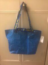 IKEA BRATTBY FRAKTA Small Blue Shopping Tote Bags 10 5/8 x 20 5/8