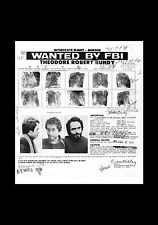 Framed Print - FBI Wanted Poster of Ted Bundy with Fingerprints (Picture Art)