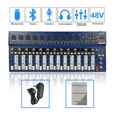 Staraudio Professional 14Ch Bluetooth Usb Mp3 Mixing Console Stage Audio Mixer