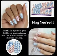 Color Street 100% Nail Polish Strips Wraps Flag, Your It Patriotic