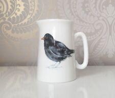Bone China Half Pint Jug Blackbird Hand Decorated in Wales Gift