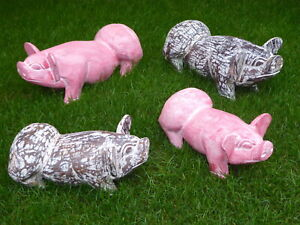 Wooden Pig Carving Two Colour Size Variations..MULTI LISTING..