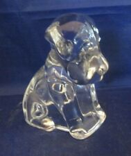 Clear Glass Dog Figurine Hollow, not solid paper weight Terrier