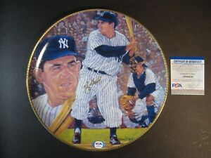 "YOGI BERRA HAND SIGNED AUTOGRAPHED GARTLAN 10"" LIMITED COLLECTIBLE PLATE PSA"