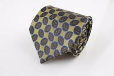 FACONNABLE Silk Tie. Brown w Blue, Green and Red Motif.