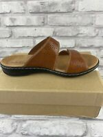 Clarks Women's Shoes Size 9.5 W Tan Leather Sandal Leisa Lacole
