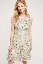NWT SZ 8 $178 ANTHROPOLOGIE WINDSWEPT LACE DRESS BY FLOREAT FIT AND FLARE