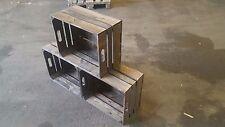3 Piezas Oscuro cajas de fruta ROLF nuevo palo rosa madera vino MANZANA