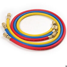 3x 1/4inch SAE Air Conditioning Refrigeration Charging Hoses for R12 R22 R502