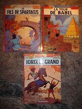 EO 1975-1981 LOT DE 3 ALIX LE FILS DE SPARTACUS LA TOUR DE BABEL IORIX LE GRAND
