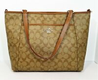 Coach Brown Signature City Zip Tote Bag Purse - COA by Entrupy- *SEE DESCRIPTION