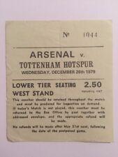 Ticket : Arsenal V. Tottenham Hotspur 26/12/1979