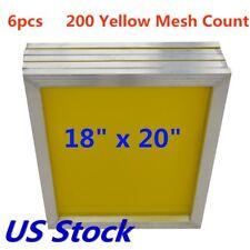 6pcs 18 X 20 Aluminum Silk Screen Printing Frame 200 Mesh Count
