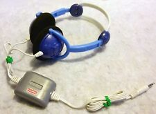 VERY RARE VINTAGE FISHER PRICE - Child Toy Stereo Headphones Earphones