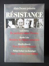 ALAIN DECAUX PRESENTE RESISTANCE - L. AUBRAC - M. COHN - M. ALBRECHT  -