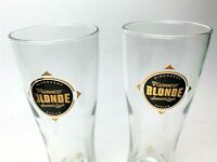 """Set of 2 Guinness Blonde American Lager Discovery Series Tall 8"""" Beer Glasses"""