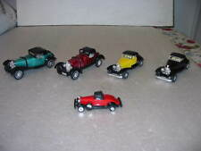Lot of 5 Diecast Replicas of 1930s Cars- Different Scales- Pull Back & Go