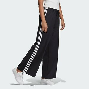 Adidas Women Originals PRIMEBLUE RELAXED WIDE LEG Black Pants FS8391 New sz S