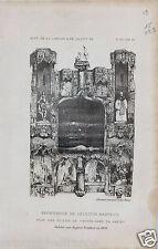 Frontispice de Celestin Nanteuil Notre Dame Paris GRAVURE ANTIQUE OLD PRINT 1896