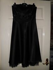 E-VIE,black SIZE 8 party, evening, wedding outfit dress,strapless,net on bottom