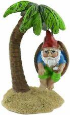 Miniature Fairy Garden Gnome on Palm Tree Swing - Buy 3 Save $5
