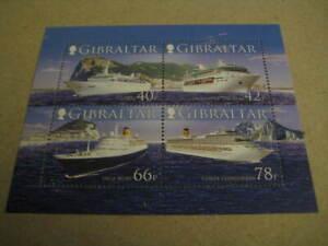 2006 Gibraltar Mint Miniature Sheet on Cruise Ships - MNH